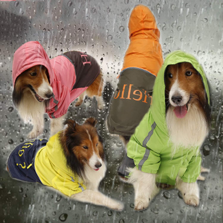 suministro directo de los fabricantes XL LOVEPET Chubasquero Perro Grande Perros Medianos Y Grandes. Poncho Poncho Poncho para Perro Ropa Impermeable para Mascotas Poliéster 4 Piezas  gran venta