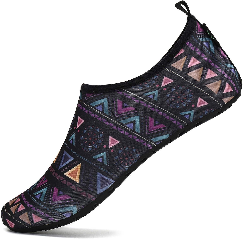 SAGUARO Hombre Mujer Zapatos de Agua Playa Escarpines Zapatillas de Deportes Acuáticos Buceo Surf Snorkel Yoga Piscina