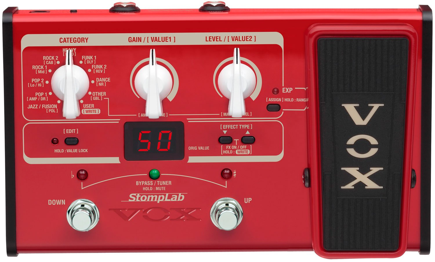 VOX STOMPLAB1B Modeling Bass Guitar Multi-Effects Pedal SL1B