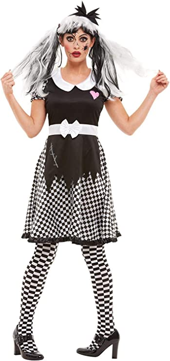 Smiffys 50942M - Disfraz de muñeca rota para mujer, talla M, color ...