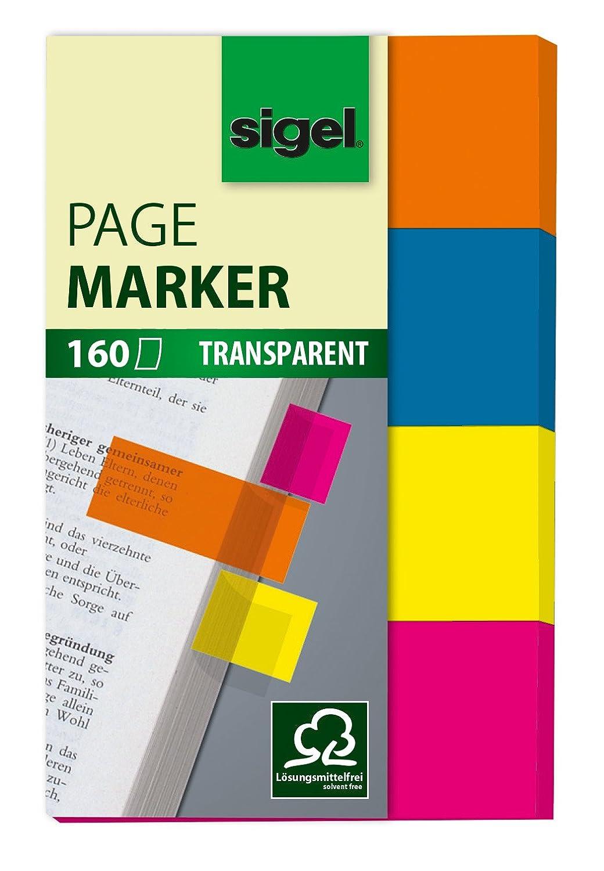 Sigel HN617 Segnapagina adesivi, rimovibili, Film, micro, 2x5 colori a blocchetto, 50x6 mm, 400 fg.