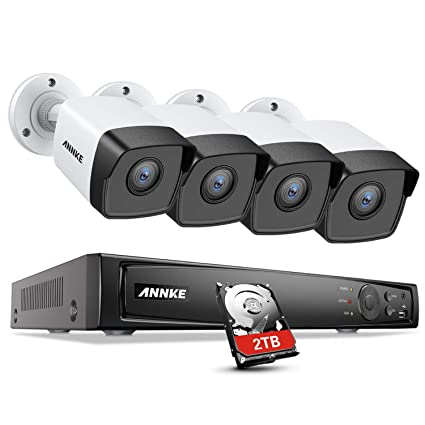 ANNKE 5MP PoE Video Security Camera System H 265+ 8MP CCTV NVR and 4X  Outdoor 5MP Surveillance IP Cameras with 2TB HDD Support 100ft Night  Vision,