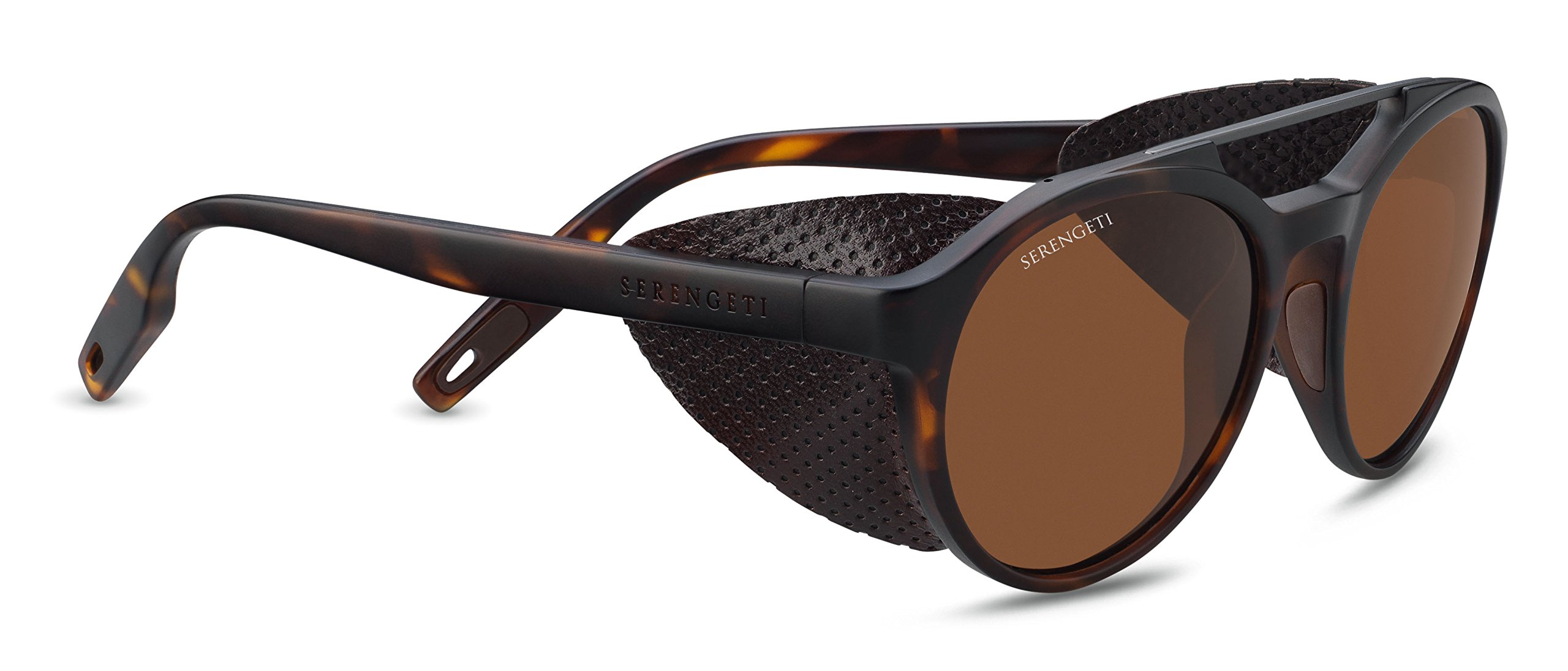 Serengeti Leandro Glacier Sunglasses Satin Tortoise Frame/Satin Dark Gunmetal, Brown