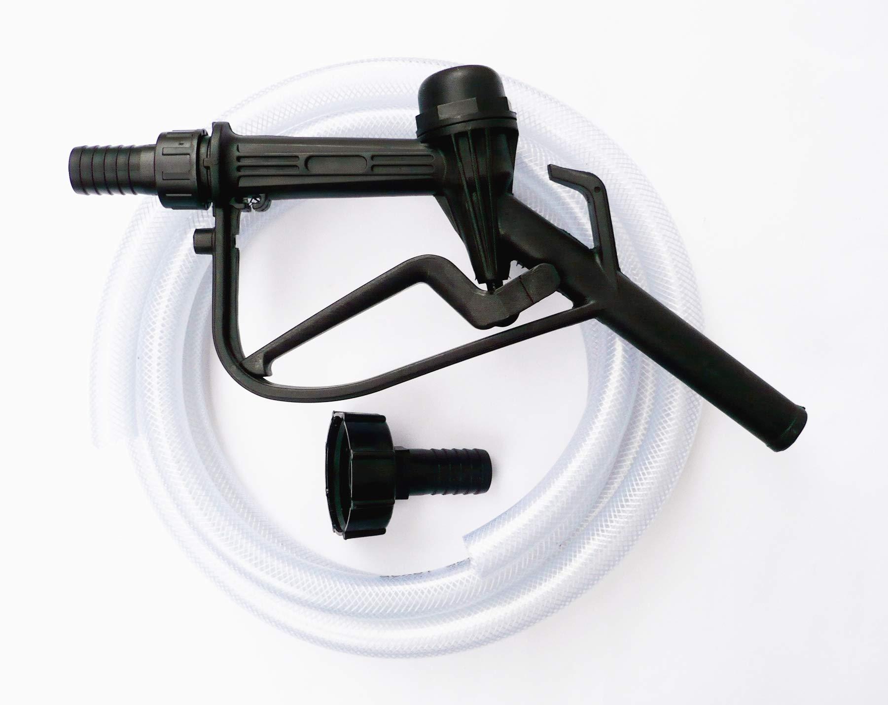 IBC Hose delivery nozzle fuel oil rubber assembley farm yard onsite
