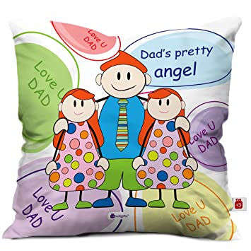 Buy Indigifts From Daughter Love You Dad Quote Multi Cushion Cover