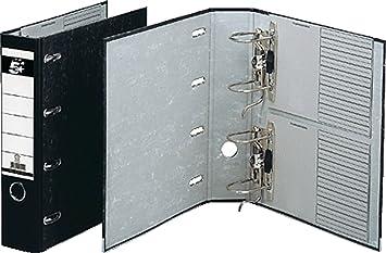 5 Star 794869 - Archivador de anillas doble (2 x DIN A5, apaisado), color negro y gris: Amazon.es: Oficina y papelería