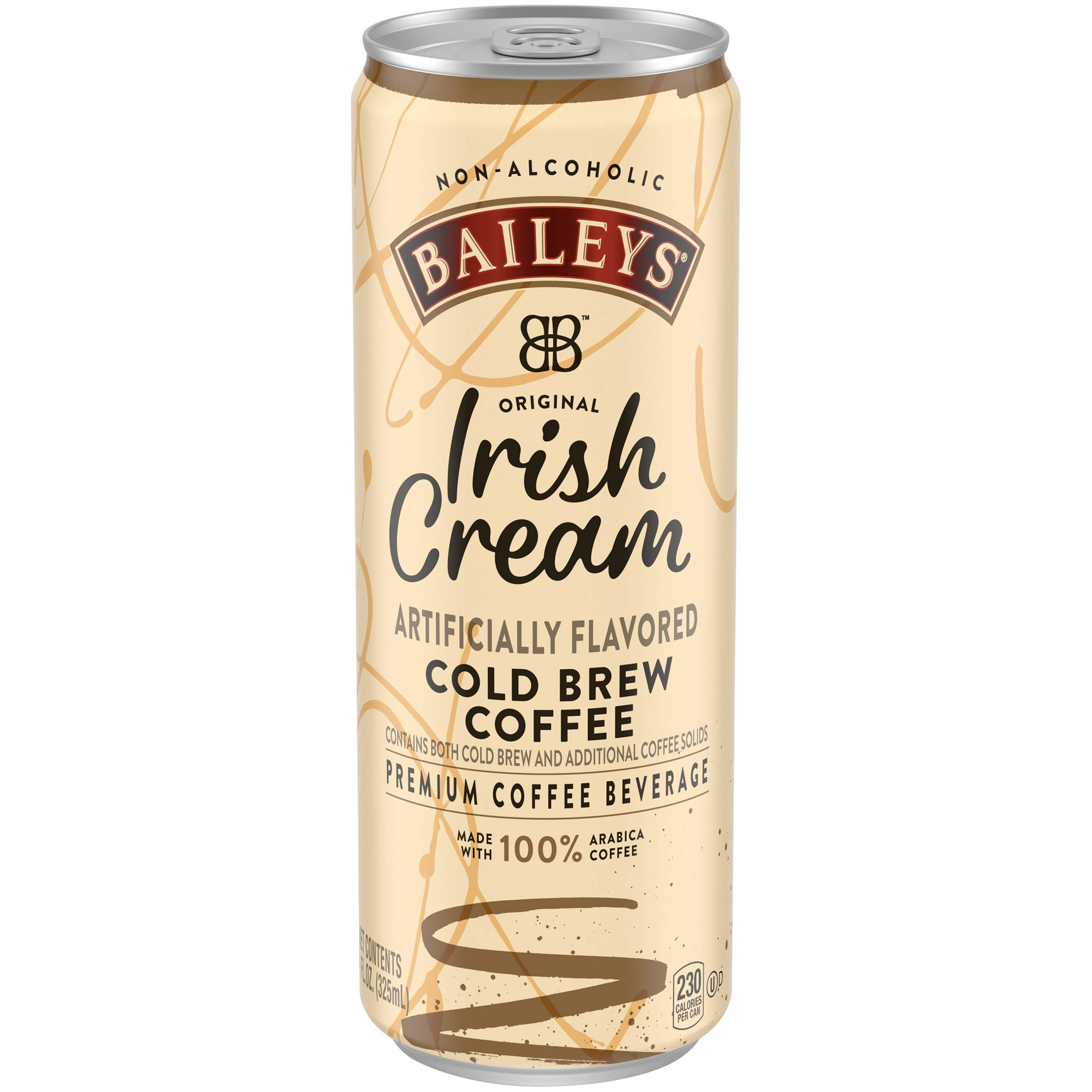 Baileys Non-Alcoholic Original Irish Cream Flavored Cold Brew Coffee, 11 fl oz can (Pack of 12)