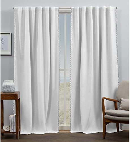Exclusive Home Curtains EH8474-01-2-84H Marabel Lined Blackout Hidden Tab Top Curtain Panel Pair