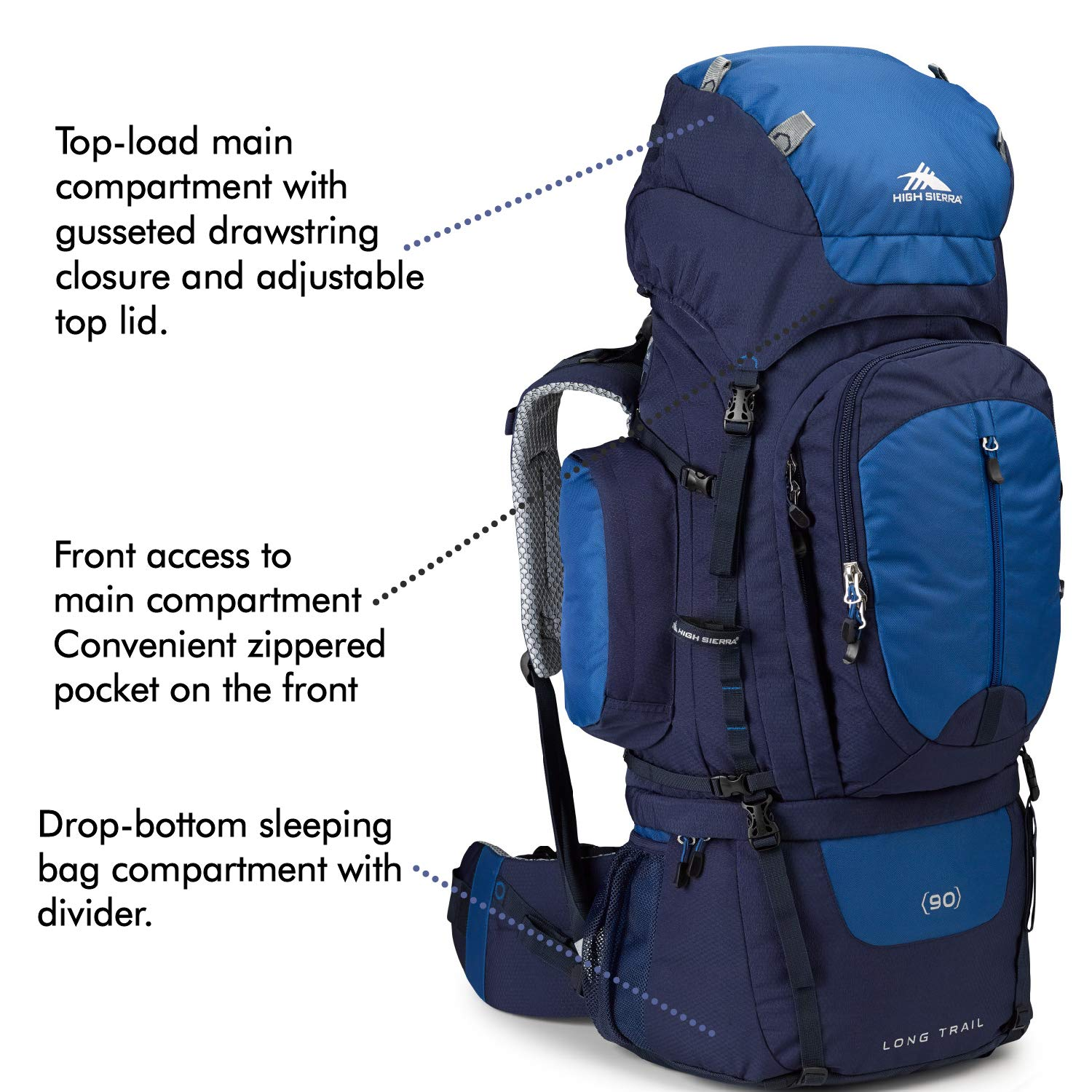 High Sierra Long Trail 90 Internal Frame Backpack