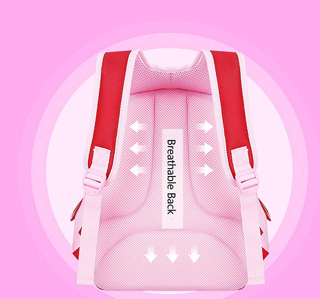 Children Princess Waterproof PU Backpack for Elementary School Girls