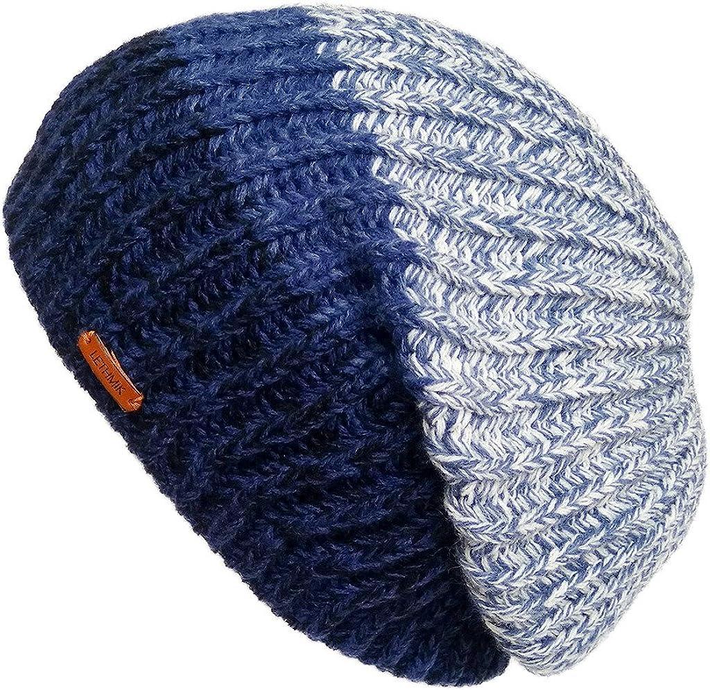 LETHMIK Unique Winter Skull Beanie Mix Knit Slouchy Hat Ski Cap for Men & Women