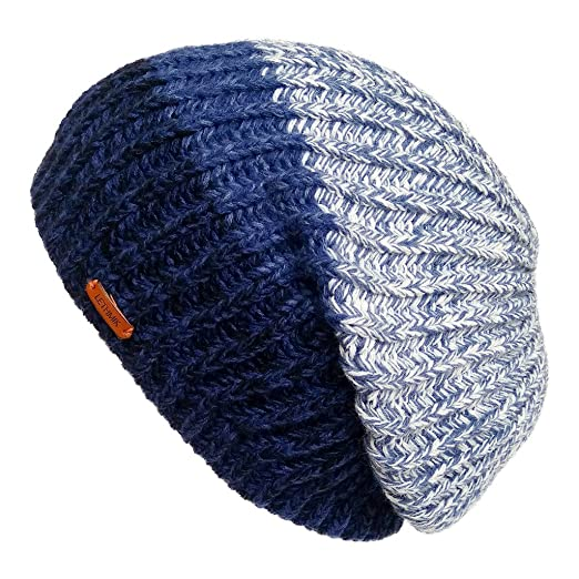 4dbe8ea67f2 LETHMIK Unique Winter Skull Beanie Mix Knit Slouchy Hat Ski Cap For Men    Women Blue