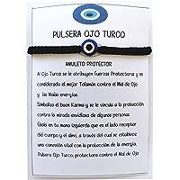 SabelAX Ojo Turco Pulsera, Hilo Rojo, Amuleto Proteccion Mal de Ojo y Buena Suerte, Unisex Mujer y Hombre, Pulsera…