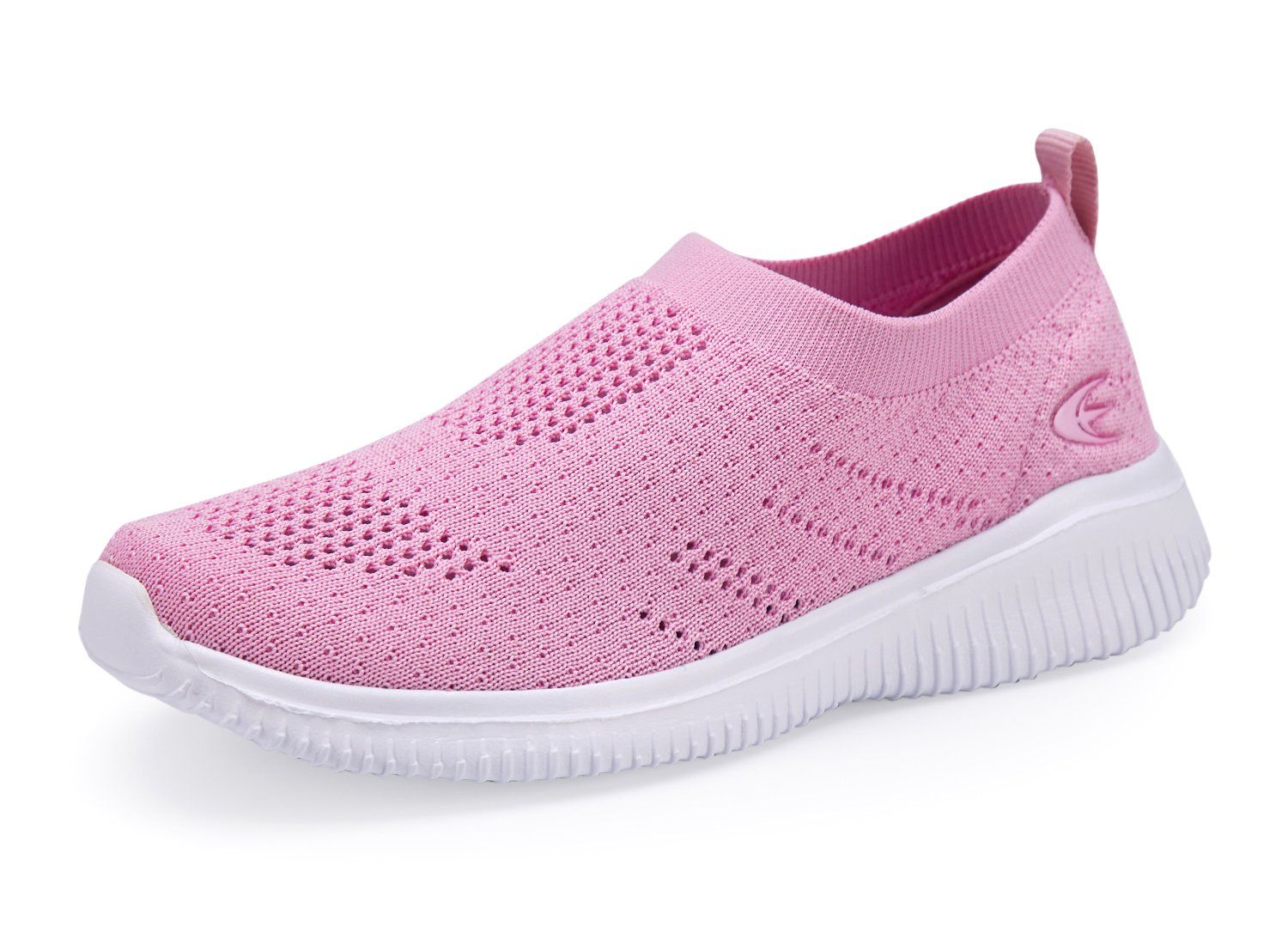 Leader shoes Toddler Little Kid Boys Girls Slip-On Shoes Lightweight Breathable Walking Sneakers (1, Pink)
