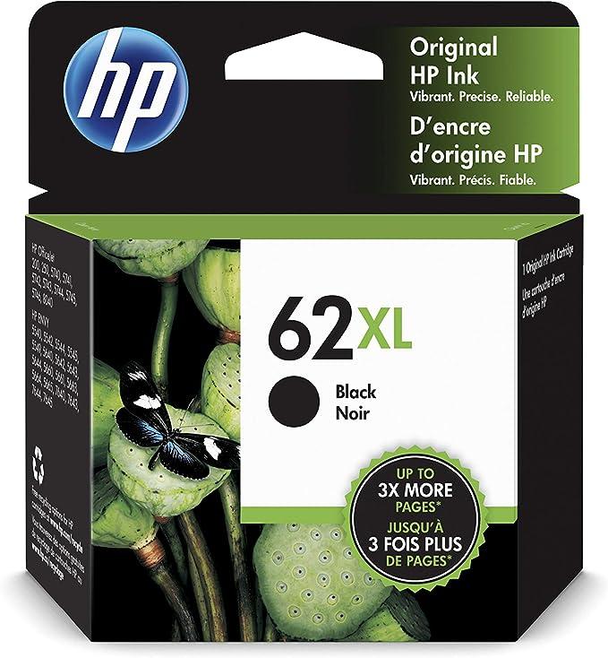 HP 62XL C2P05AE, Cartucho de Tinta Original de alto rendimiento, negro, compatible con impresoras de inyección de tinta HP ENVY 5540, 5640, 7640;OfficeJet 200, 250, 5740: Hp: Amazon.es: Oficina y papelería