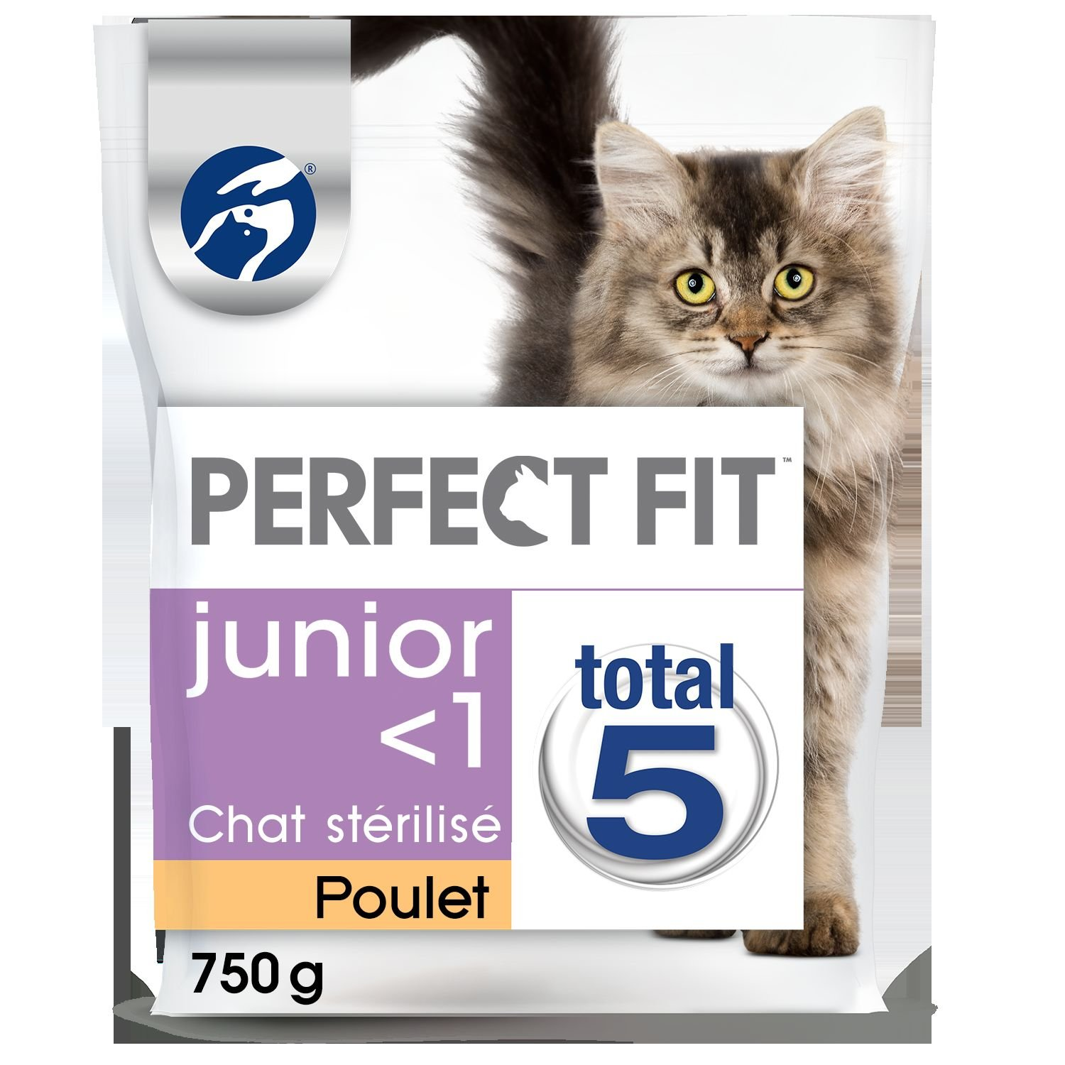 PERFECT FIT JUNIOR STERILISE - Croquettes au poulet pour chaton 750g - lot de 5 (3, 75kg) 4008429088483