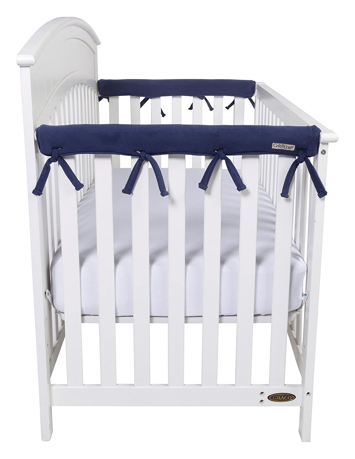 Trend Lab Waterproof CribWrap Rail Cover - For Narrow Side Crib Rails Made to Fit Rails up to 8