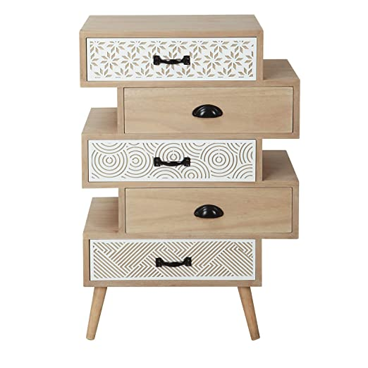 Casa Collection - Mueble cajonera de 5 cajones Serie Safari ...