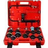 DASBET 18PCS Universal Car Radiator Pressure Tester Cooling System Pressure Tester Kit Vacuum Type Cooling System Kit