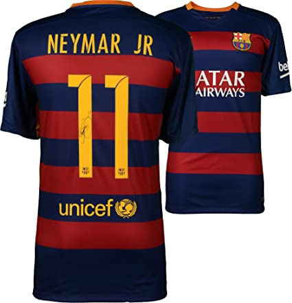 6d1443083 Neymar Santos Barcelona Autographed 2015-2016 Blue   Red Nike Jersey -  ICONS - Fanatics Authentic Certified at Amazon s Sports Collectibles Store