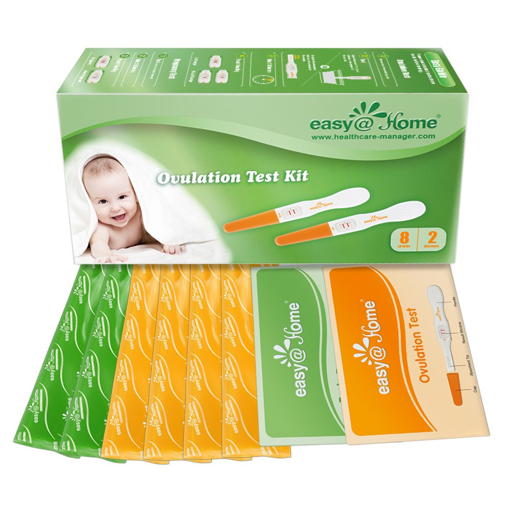 Easy@Home 8 Ovulation Test and 2 Pregnancy Test Sticks - Midstream Tests - Reliable Ovulation Predictor Kit And Fertility Test, Powered by Premom Ovulation Predictor App, Free iOS and Android App by Easy@Home (Image #4)