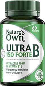 Nature's Own Ultra B 150 Forte - Coenzyme - Assists in Metabolism - Supports Cognitive Function and Nervous System, 60 Tablets