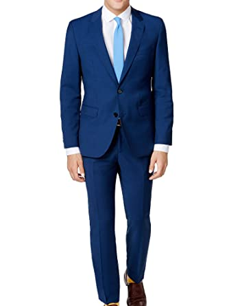 bdc7a334 Amazon.com: Hugo Boss 2 Piece Set Slim Fit Men's Suit Wool  C-Jeffery/C-Simmons Micro Check Blue Retail Price $695.00: Hugo Boss:  Clothing