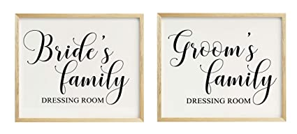 Bride\u0027s \u0026 Groom\u0027s Family Dressing Room Sign Wedding Party Signage Party  Print , Frame Not Included