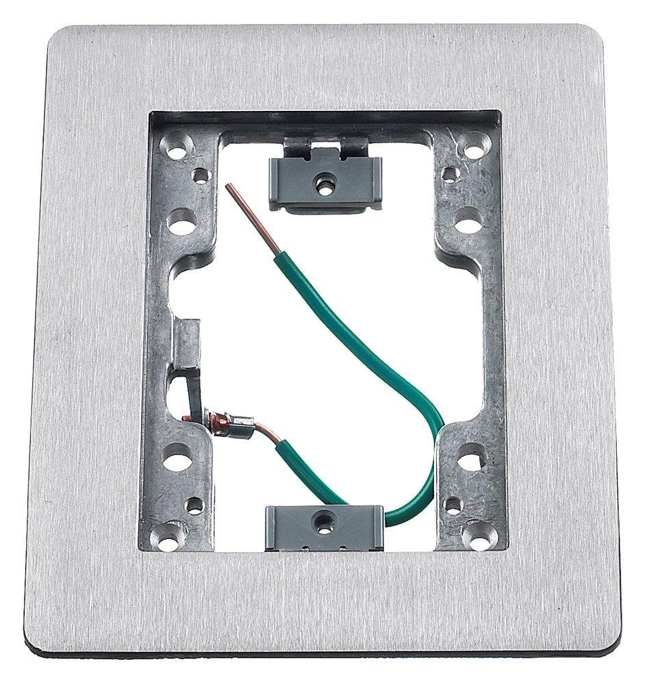 HUBBELL WIRING DEVICE-KELLEMS PFBR826GYA Floor Box Cover,Rectangular,Gray
