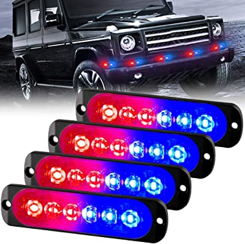 Univercal LED 12V Strobe Light Signal Warning Lamp Security Red Car RV Vehicle