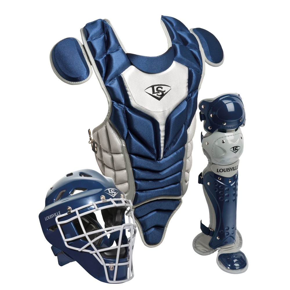 Louisville Slugger Youth PG Series 5 Catchers Set, Navy/Gray