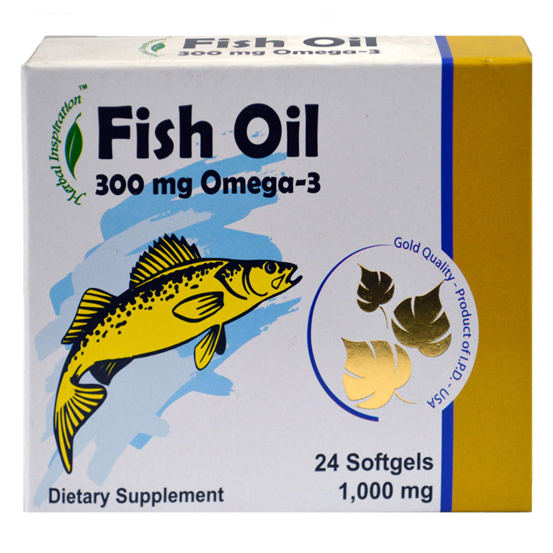 (Pack of 36, 864 Ct) Herbal Inspiration Fish Oil 1000mg