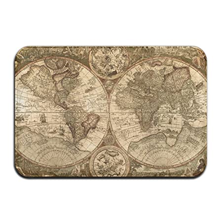 Button8 soft shag mat old world map globe carpet round carpet area button8 soft shag mat old world map globe carpet round carpet area rug for living room gumiabroncs Images