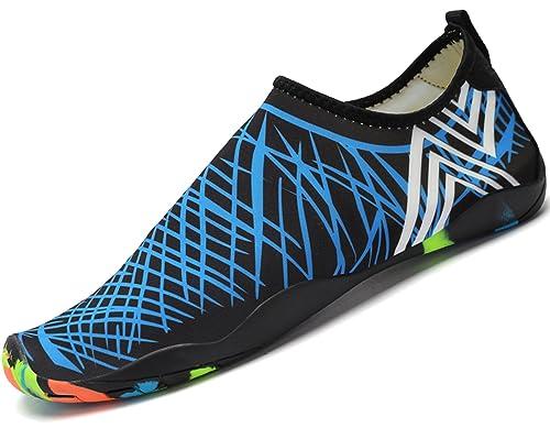 28529033938bb Mujer Hombre Zapatos de Playa Zapatillas de Piscina Calzado para Agua  Escarpines para Deportes Acuáticos Natacion Surf Náutica Buceo y Snorkel   Amazon.es  ...