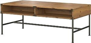 Bush Furniture kathy ireland Home Ironworks Coffee Table, Vintage Golden Pine