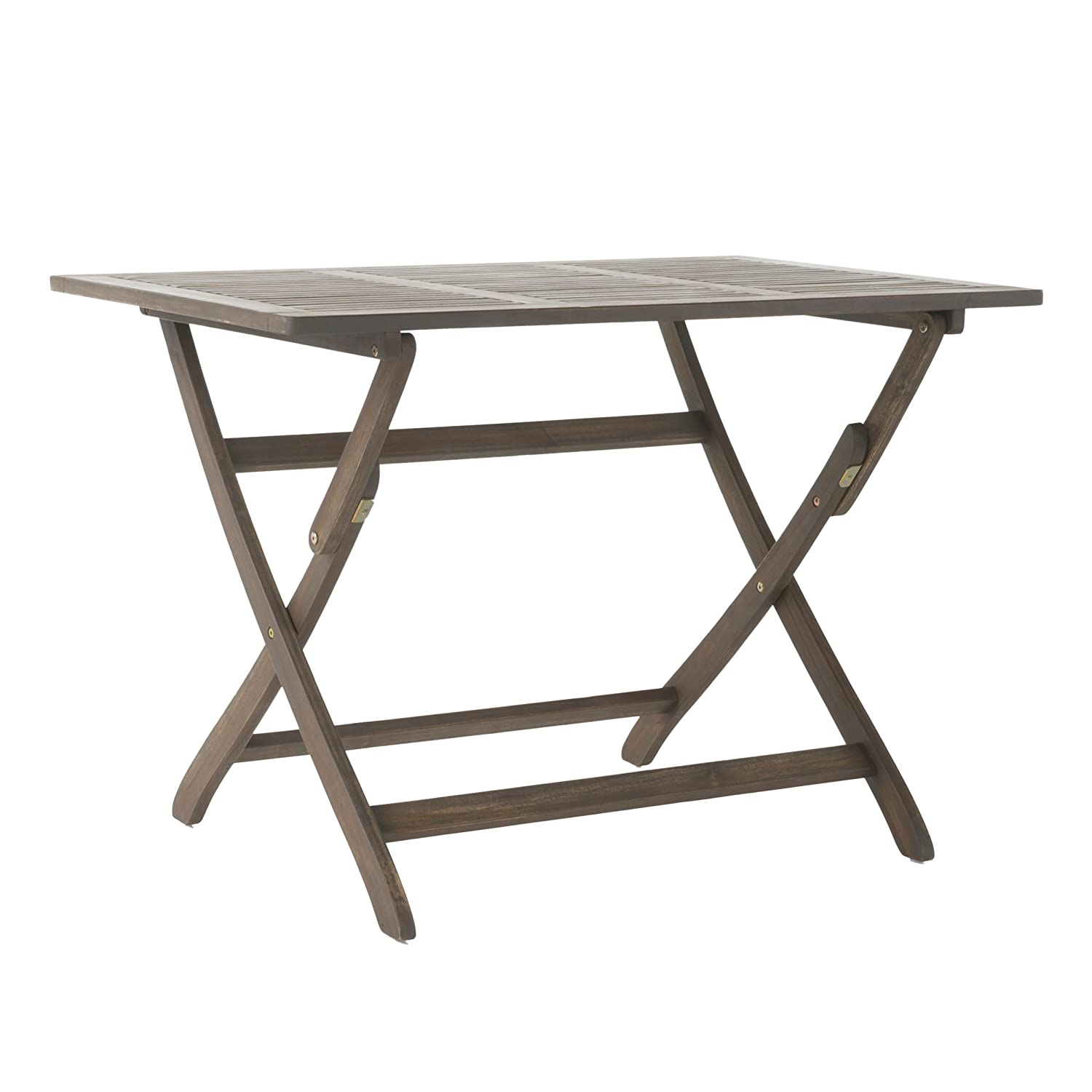 St Nevis Outdoor Grey Finish Acacia Wood Foldable Dining Table