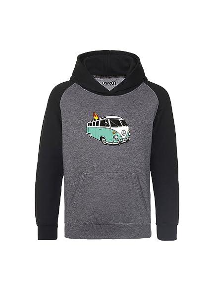 Brand88 - VW Camper Niños Sudadera Con Capucha: Amazon.es: Ropa y accesorios