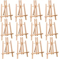 "11"" Tall Tabletop Easel - ATWORTH Small Wood Easel Painting Display Easel, Pack of 12"