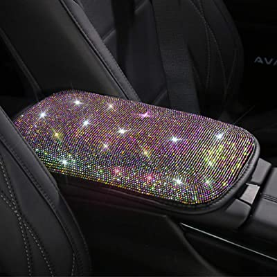 Universal Bling Bling Car Center Console Cover, Luster Crystal Arm Rest Padding Protective Case Diamond Car Decor Accessories for Women(FSD): Automotive