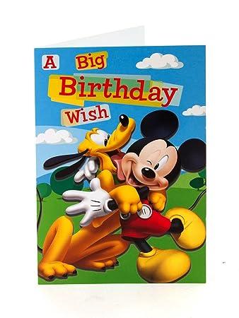 Amazon Mickey Mouse Pluto A Big Birthday Wish Birthday Card