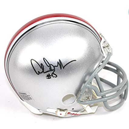 2fb9fe98f2c Archie Griffin Autographed Signed Ohio State Buckeyes Mini Helmet - H.T.  74 75 Inscription -