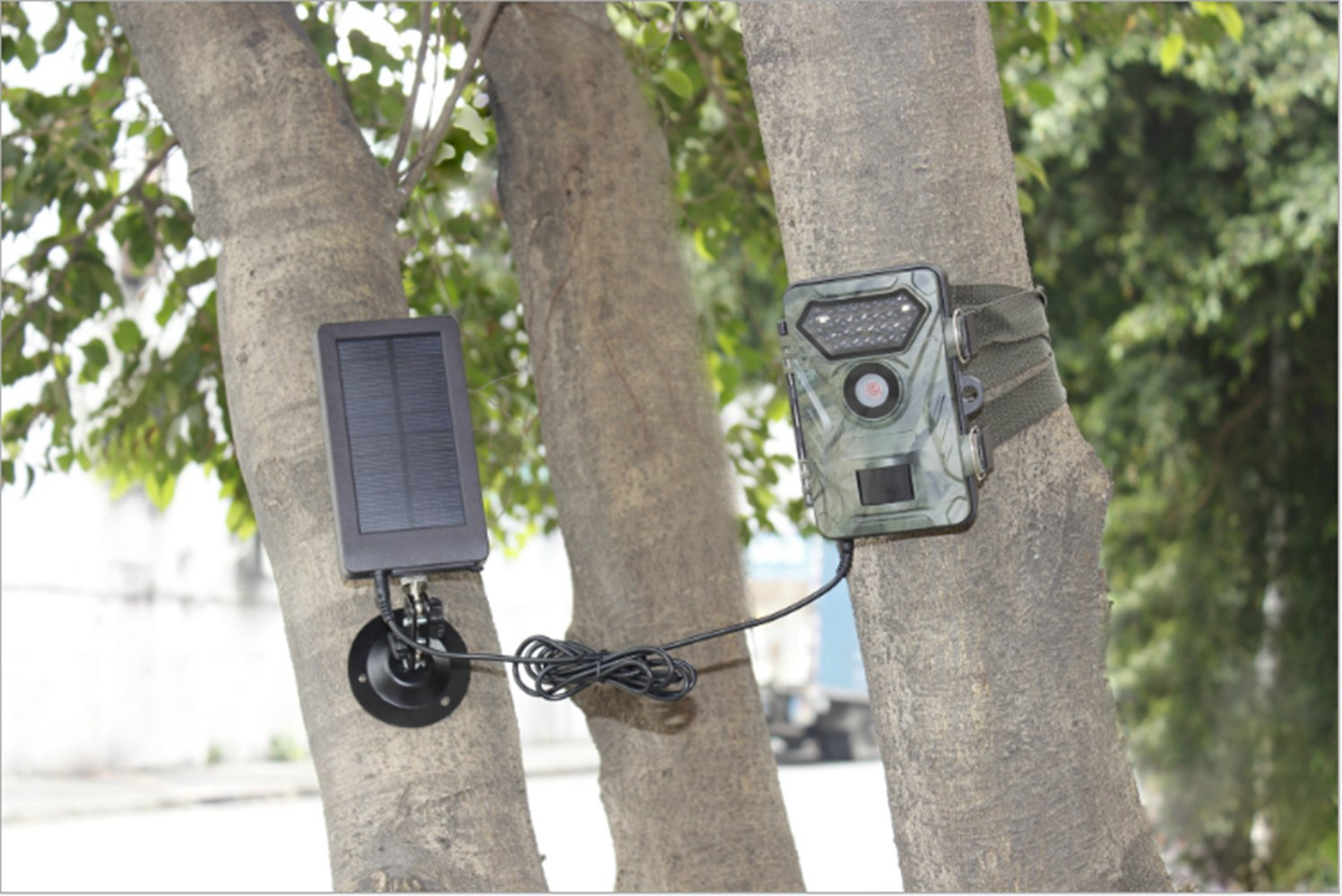 Jiee Tec SUNTEK Solar Panel 1500mah Solar Charger Battery for Hunting And Game Trail Cameras by Jiee Tec