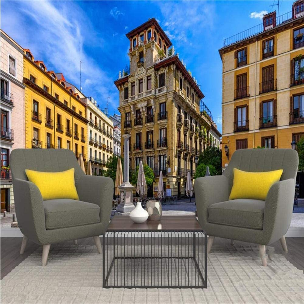 ZDBWJJ personalizar Personalizar el papel tapiz mural Madrid España vista de la calle fondo 3d pared papel tapiz 3d-F: Amazon.es: Bricolaje y herramientas