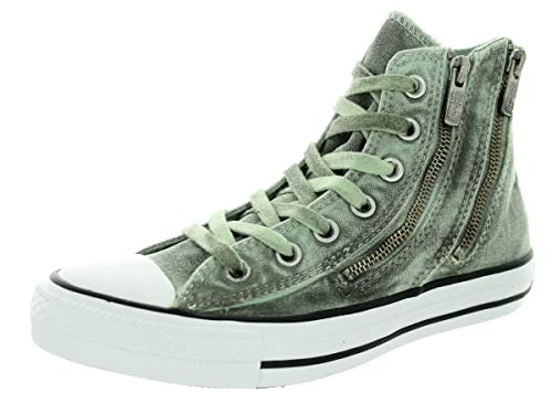 Converse Womens Black Wash Chuck Taylor All Star Dual Zip Shoes e88bcc73c