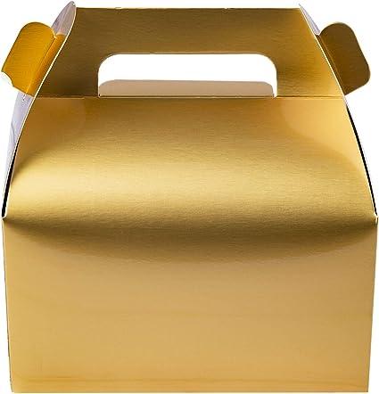 Amazon.com: Paquete de 25 cajas de dulces doradas Gable ...