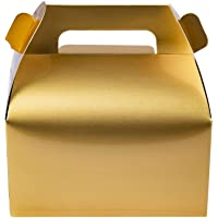 25-Pack Gable Gold Candy Treat Boxes,Small Goodie Gift Boxes for Wedding and Birthday Party Favors Box 6.2 x 3.5 x 3.5…
