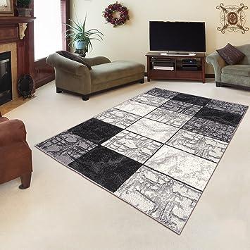 Amazon.de: Tapiso Designer Teppich Wohnzimmer Teppich STEIN Muster ...