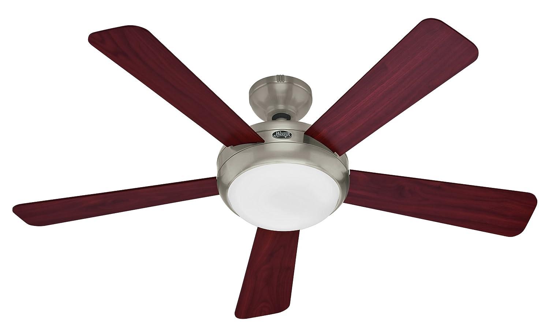 Hunter 21627 Palermo 52 Inch Brushed Nickel Fan Ceiling Fans Com