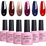AIMEILI Gel Nail Polish Soak Off UV LED Multicolour/Mix Colour/Combo Colour Set Of 6pcs X 10ml - Kit Set 21