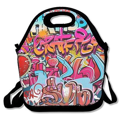 Amazon.com  Engguaneuw Lunch Box Street Graffiti 01 Picnic Bag ... ce2f07e1a01b0